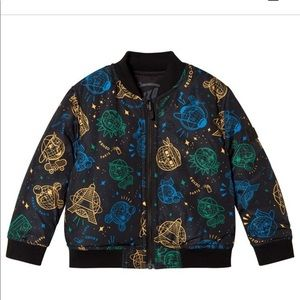 Kenzo Black Cosmic Logo Reversible Bomber Jacket